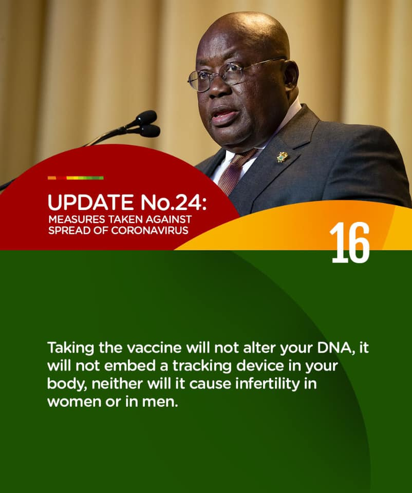 COVID-19 vaccines will not cause infertility – Akufo-Addo