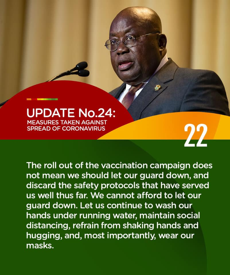 Roll out of vaccination campaign does not mean you shouldn't wear nose mask – Akufo-Addo