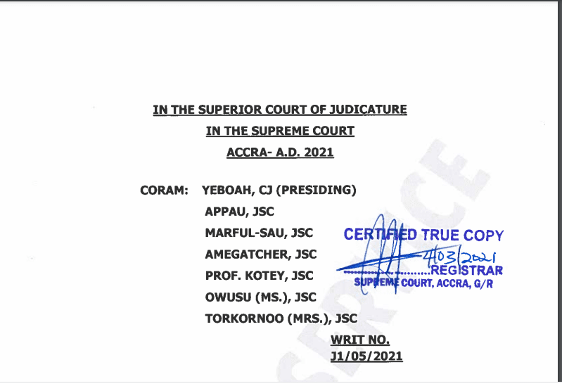 Full text:  Supreme Court judgment on Mahama's election petition