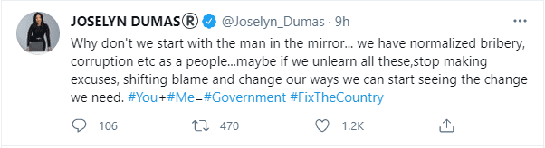 Check yourself first for the change you need- Joselyn Dumas beseech Ghanaians